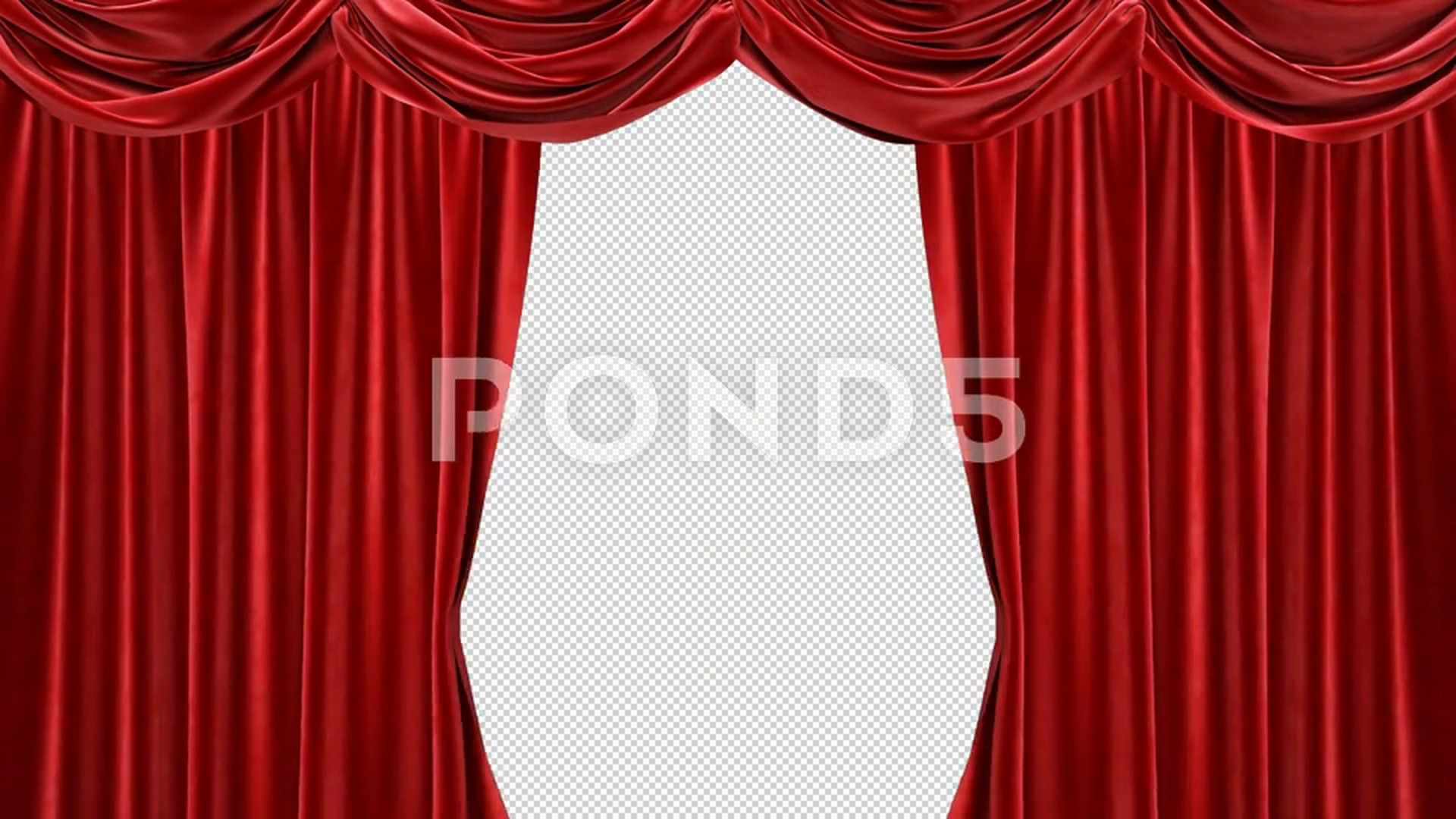 Red Curtain With Alpha Channel Stock Footage Alpha Curtain Red