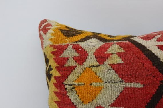 Couch Pillow, Pillow Case, Aztec Pillow, Red Pillow, Ethnic Pillow, Turkish Pillow 18x18, Throw Pill