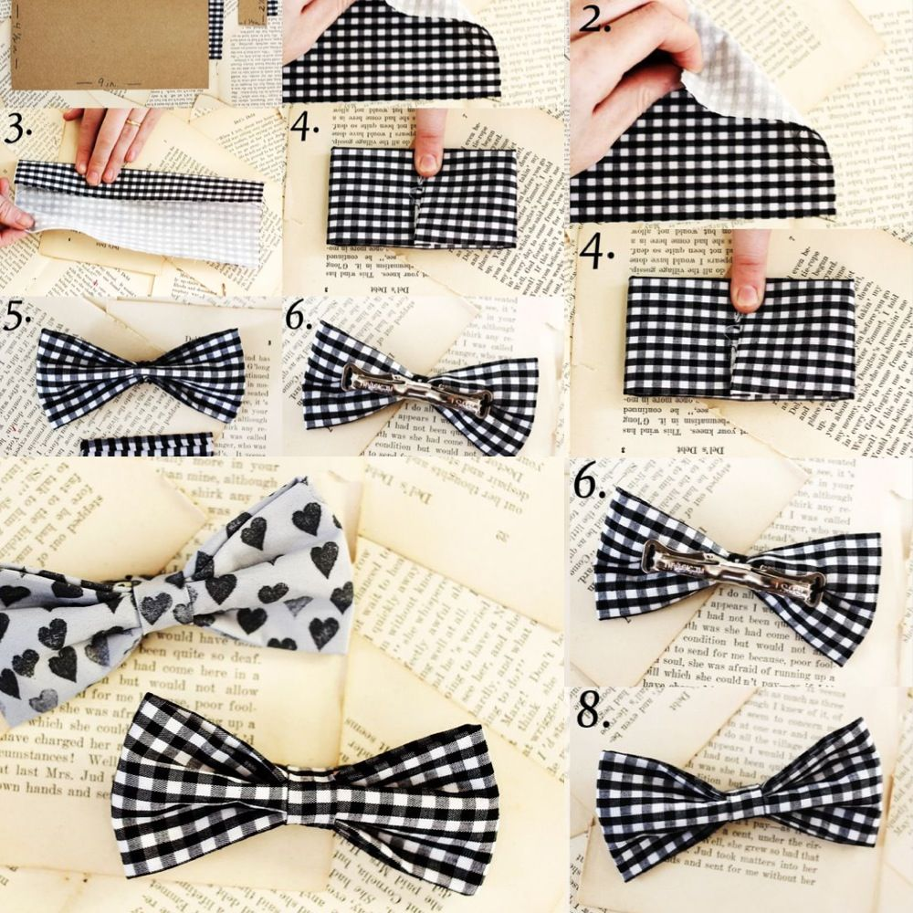 how to make a bow tie with a tie