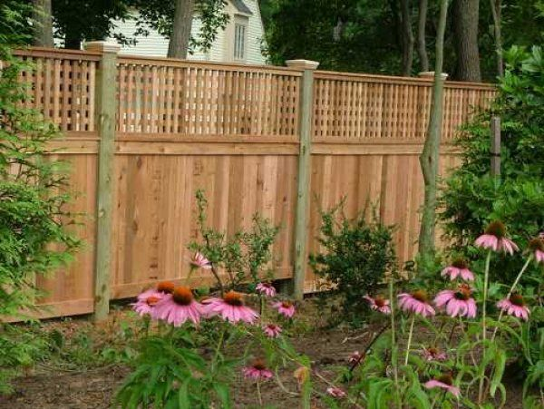 Here S A Privacy Fence With A Short Section Of Lattice Panels On