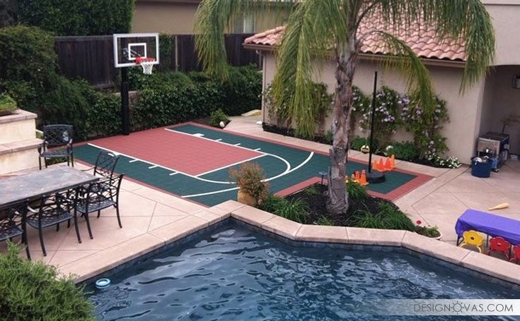 25 Ideas To Landscape Your Backyard With Games Backyard Games Outdoor Relax Cool Basketball Court Backyard Home Basketball Court Backyard Basketball
