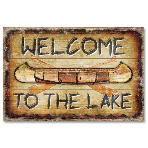 Welcome To The Lake Signs Decor Entrancing Rustic Canoe Signs  To The Lake Wood Sign Canoe Plaque Rustic Design Decoration