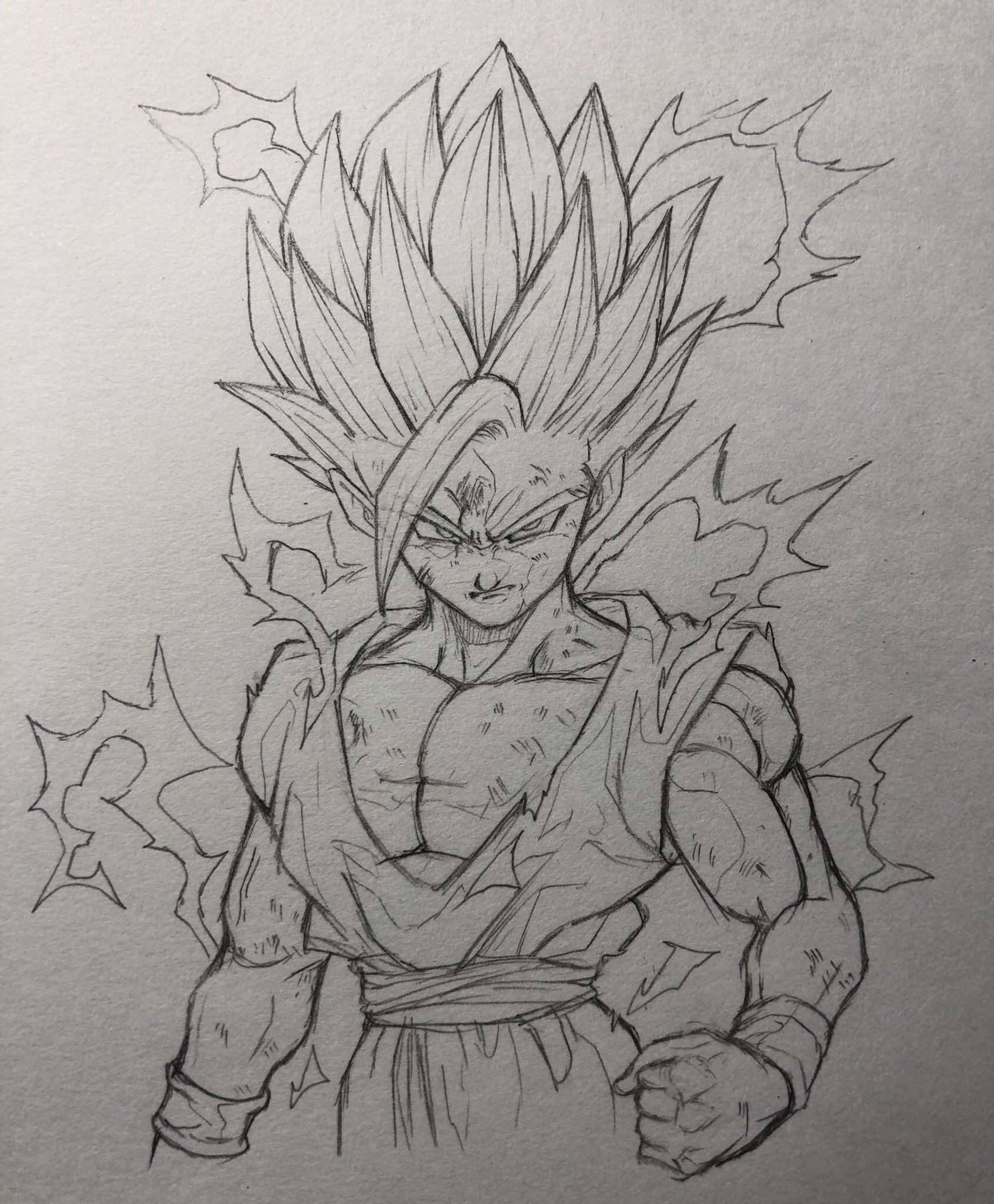 The most awesome drawing of badass ssj2 teen gohan dbz drawings goku drawing
