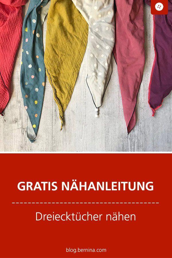 Cousez 2 foulards triangulaires à partir d'un mètre de tissu »Blog BERNINA   – Nähanleitungen