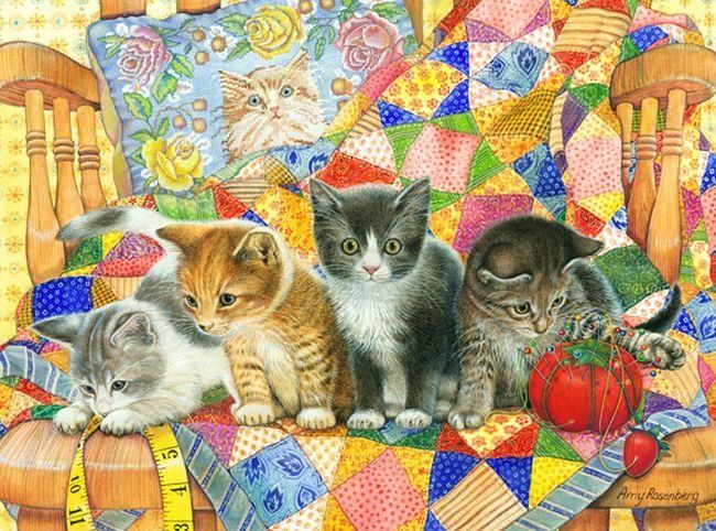 Amy Rosenberg Kitty Cats On The Chair Am Illustrations