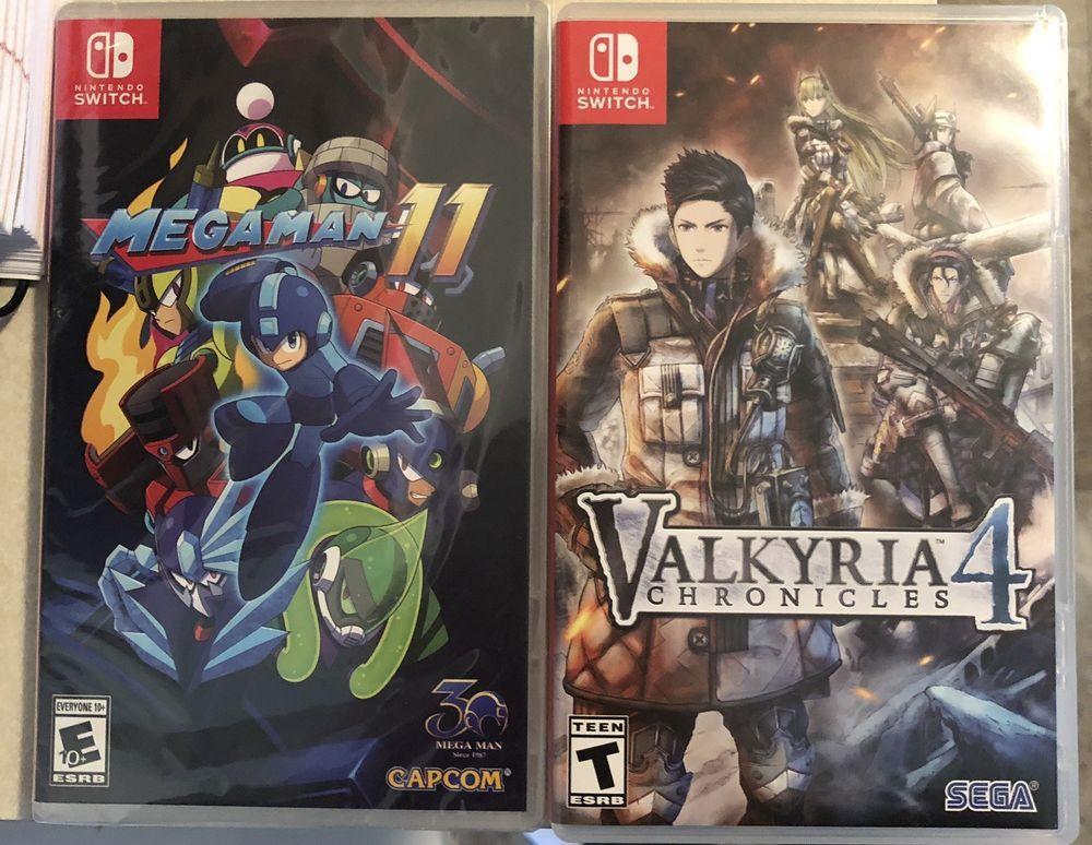 Nintendo Switch Game Lot Valkyria Chronicles 4 Mega Man 11