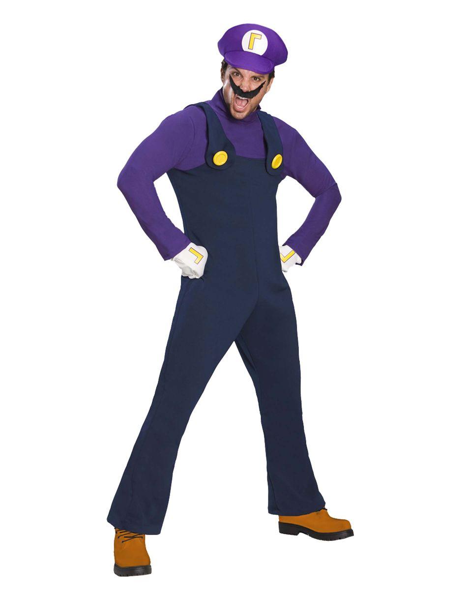 Super Mario Bros. Waluigi Adult Menu0027s Costume