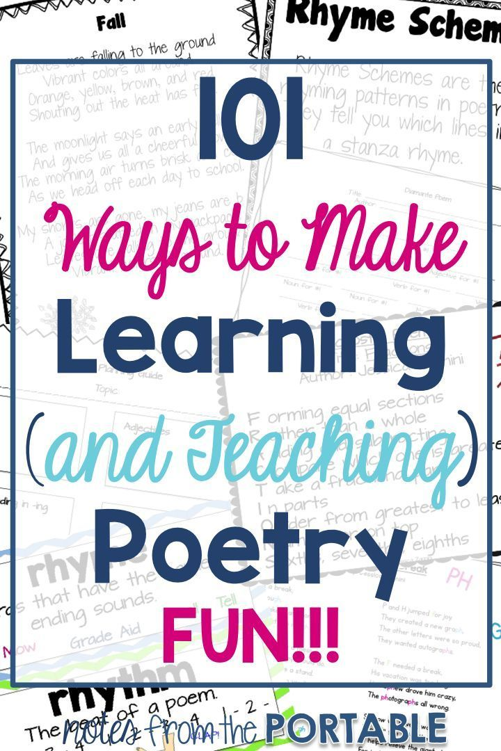 ideas activities and lessons for teaching poetry rhyming poems