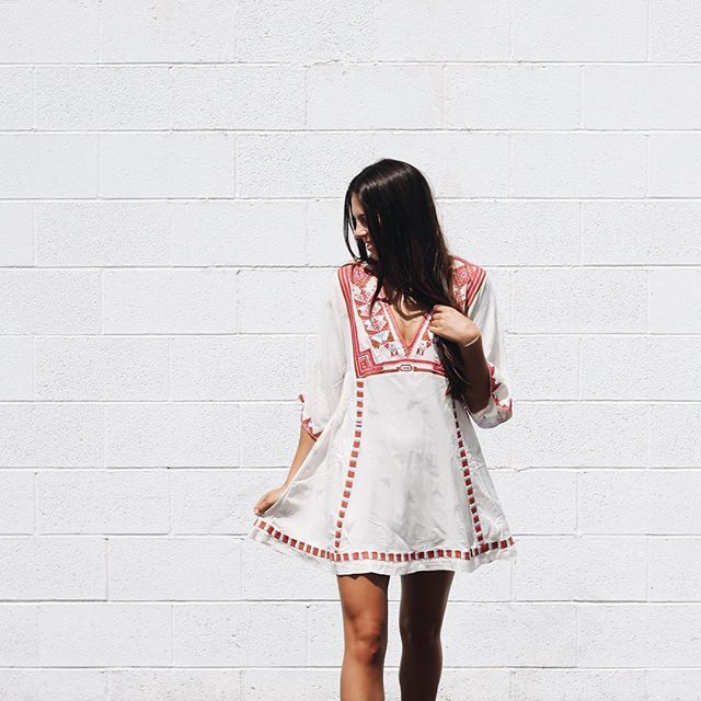 Our favorite Tatum wearing this effortlessly cool dress by @freepeople! $168