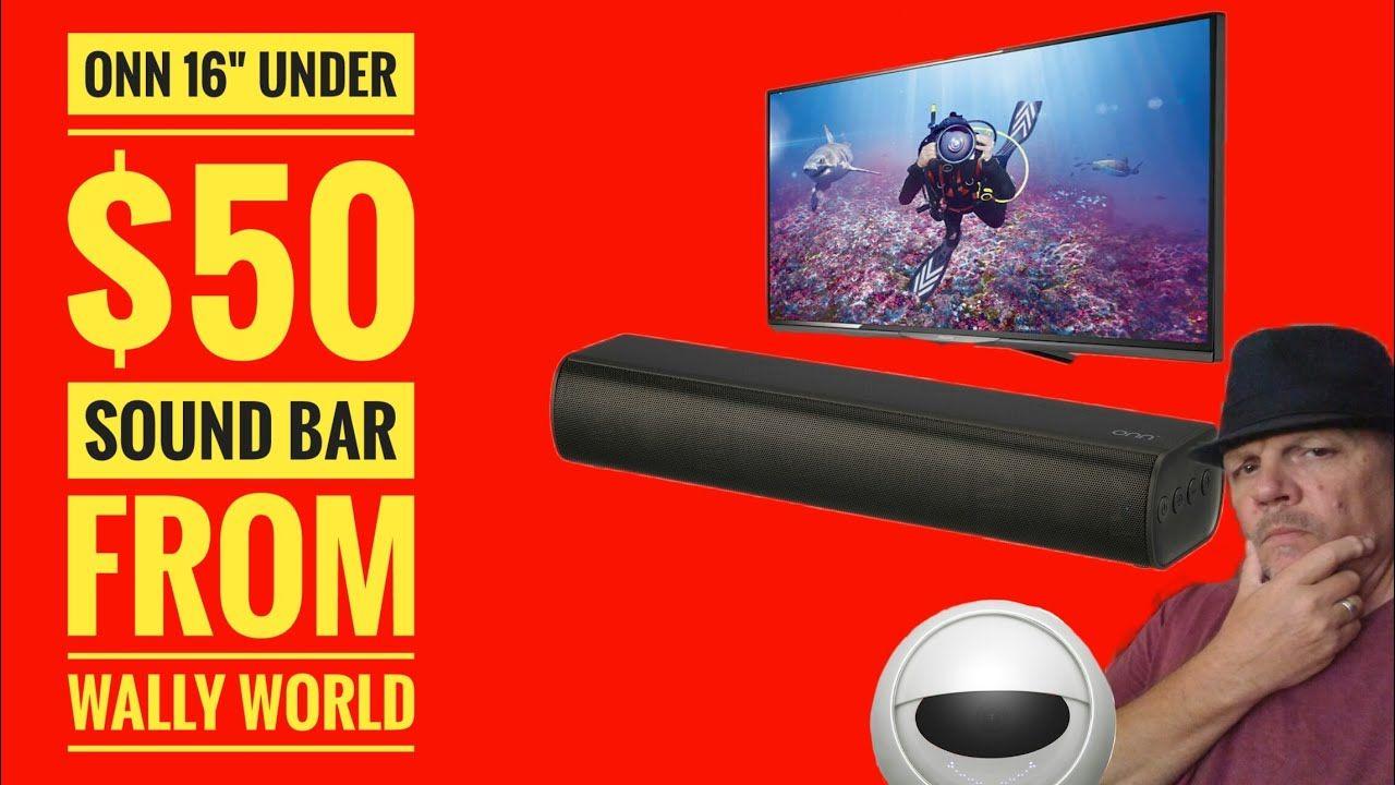 "Onn Sound Bar 16"" Sound Bar Under 50 from Wally World"