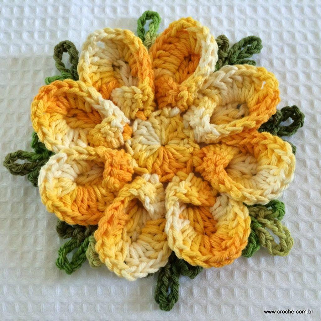 Flor De Concha Passo A Crochet Flowers And Rose Flores Crochetflowers Pretty Flower Diagram