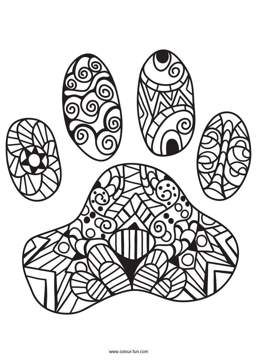 Free Pdf Downloads With A Single Click Click On The Image To Go To The Download Page Zentanglecats Cats Kitt Paw Print Drawing Cat Paw Print Dog Paw Print