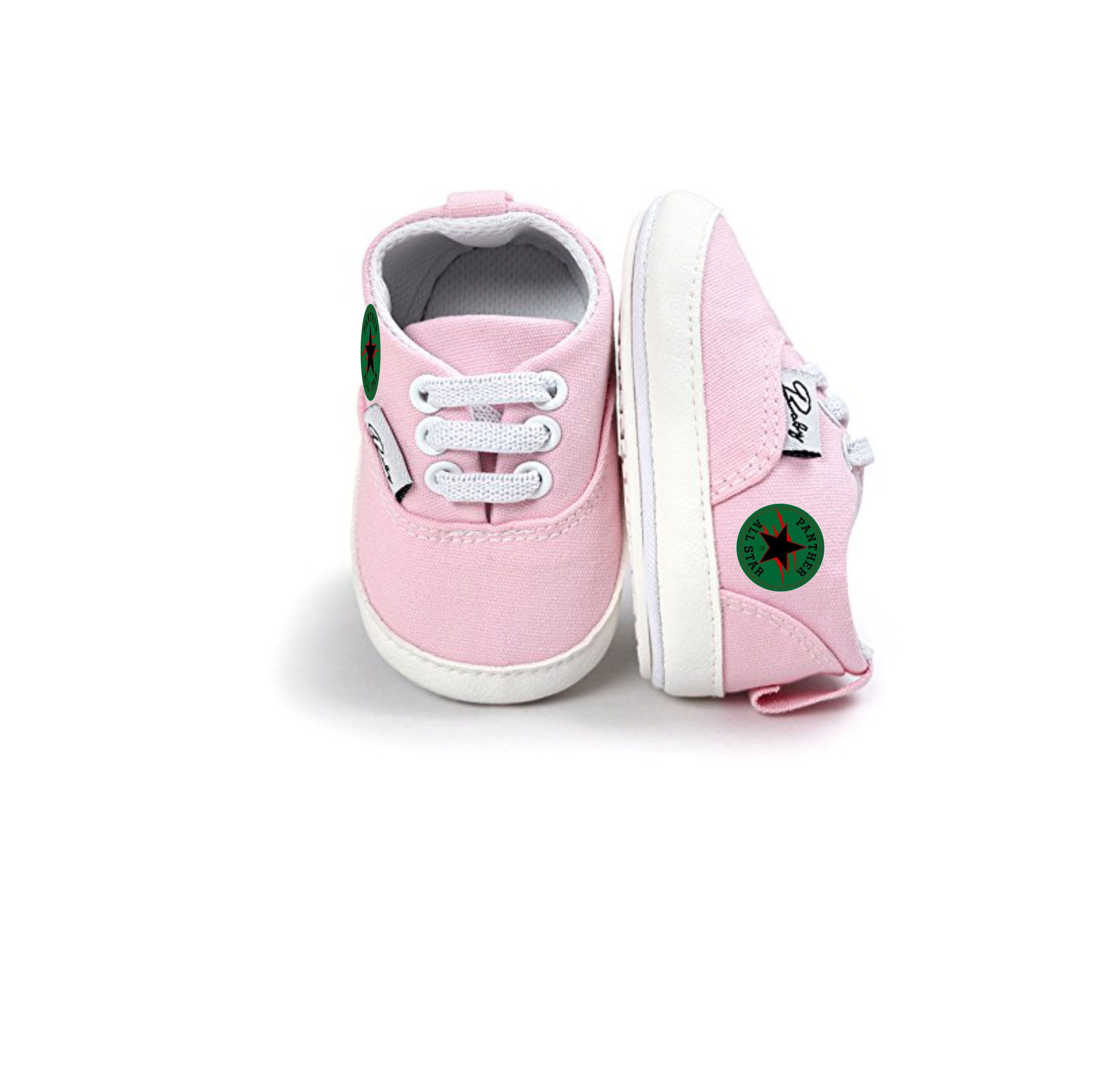d246fb873 Custom Panther All Star Non-Slip Sneaker First Walkers Shoes 0-6 Months  (Pink) by ChildishKreationz on Etsy