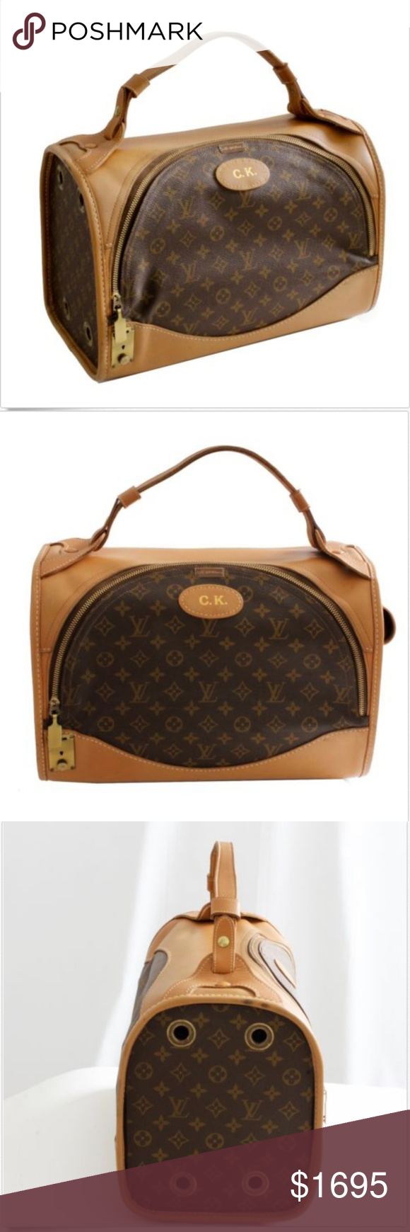 00f035ec73a Louis Vuitton French Company Sac Chien Dog Carrier Authentic ...