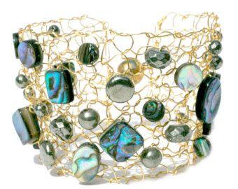Simple Wide Gold Cuff Bracelet Y Metallic Woven By Lapisbeach