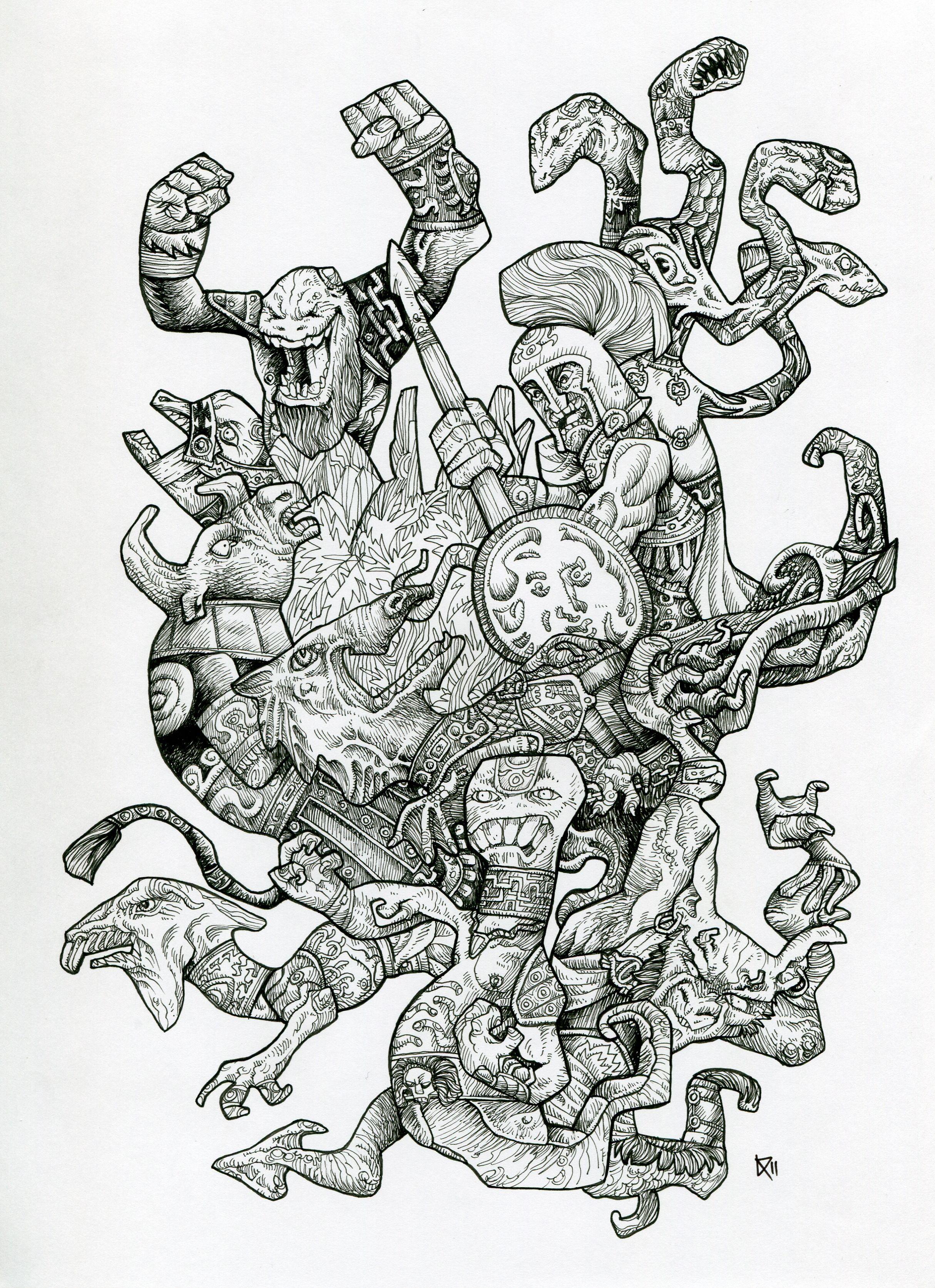 Drawing Inking Hades