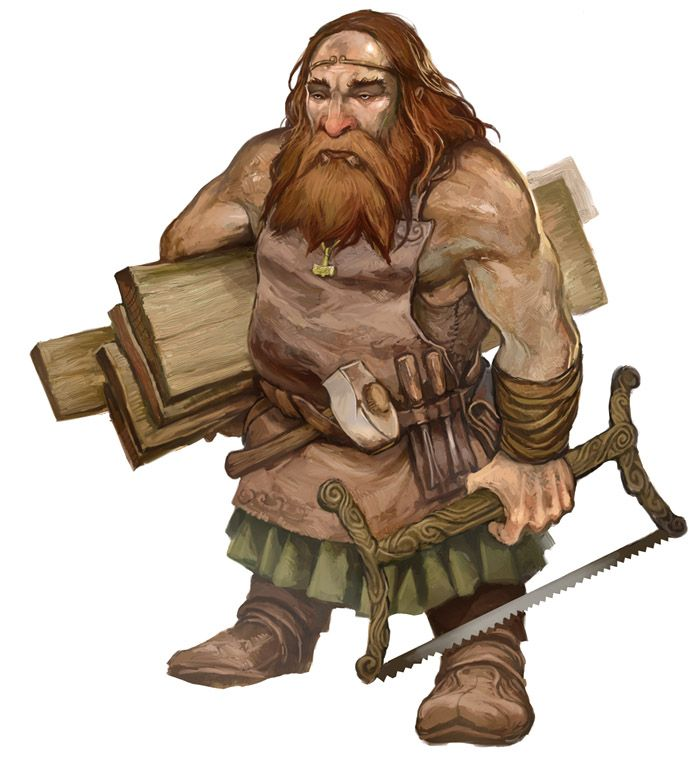 Carpenter Dwarf by JonHodgson.deviantart.com on @deviantART | D&d rpg, Rpg,  Personagem