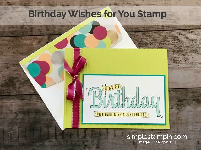 Birthday wishes for you stamp stampin up birthday cards clean and birthday wishes for you stamp stampin up birthday cards clean and simple birthday card susan itell stampin upg 640480 pixels pinterest catalog bookmarktalkfo Images