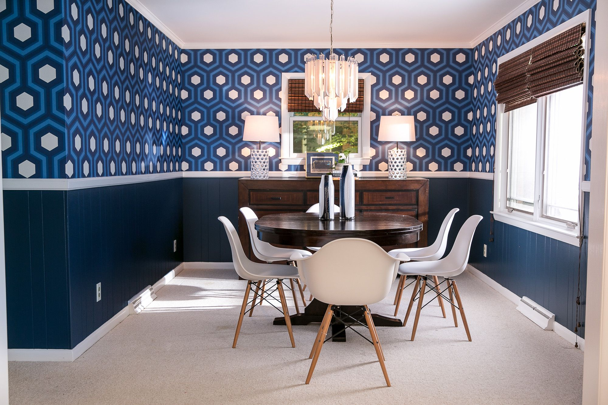 Mid Century Modern, Hicks Grand Hexagon Wallpaper