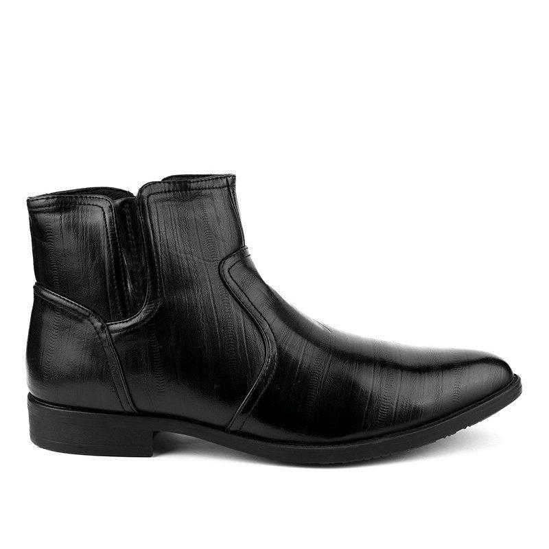 Czarne Polbuty Ocieplane Hl1005 2 Shoes Jodhpur Boots High Shoes