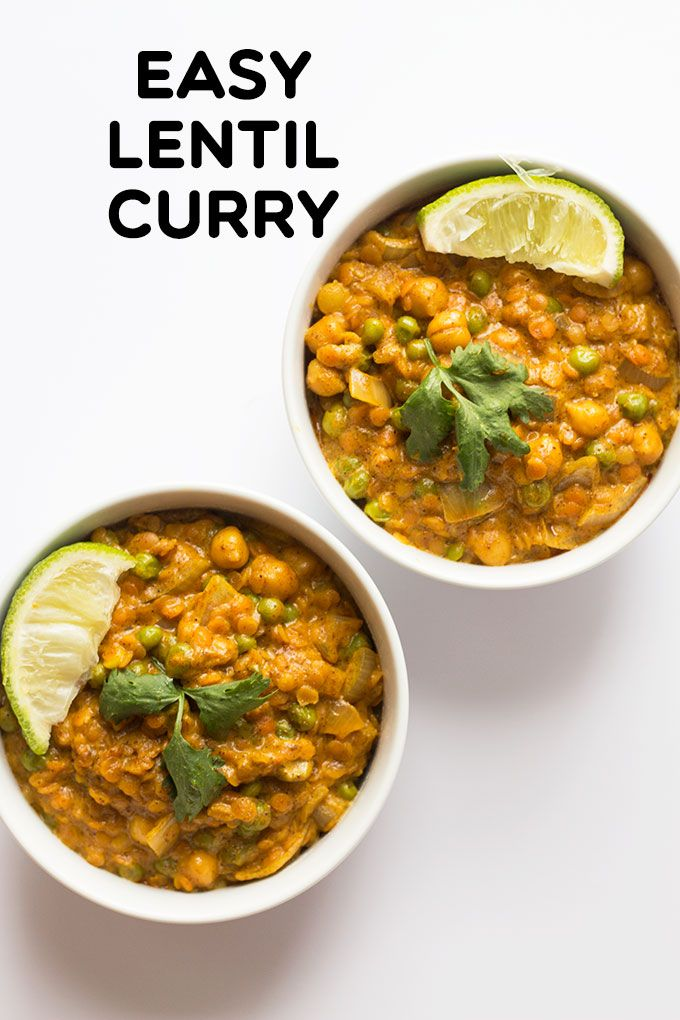 Easy Lentil Curry Recipe Indian Food Recipes Curry Recipes