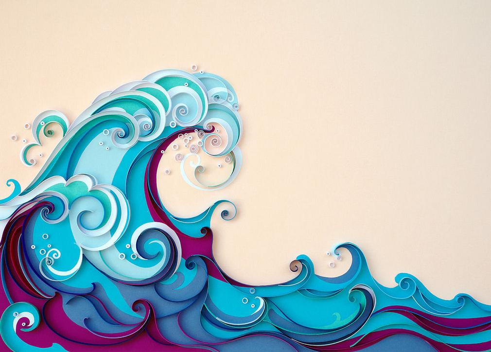 summer | paper wave art