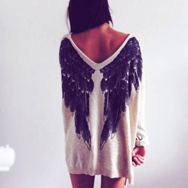 картинки крыльев ангела на одежде женщинам повезло