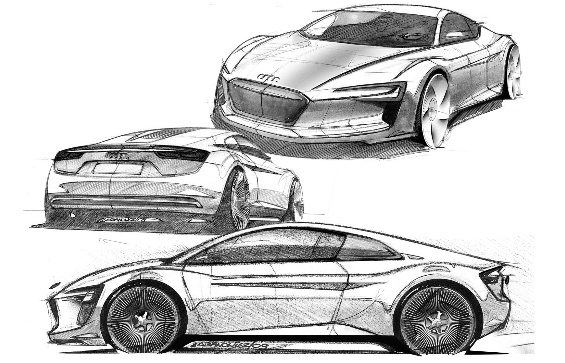размытие заднего как дизайнеры рисуют эскизы спорткаров фото подачей