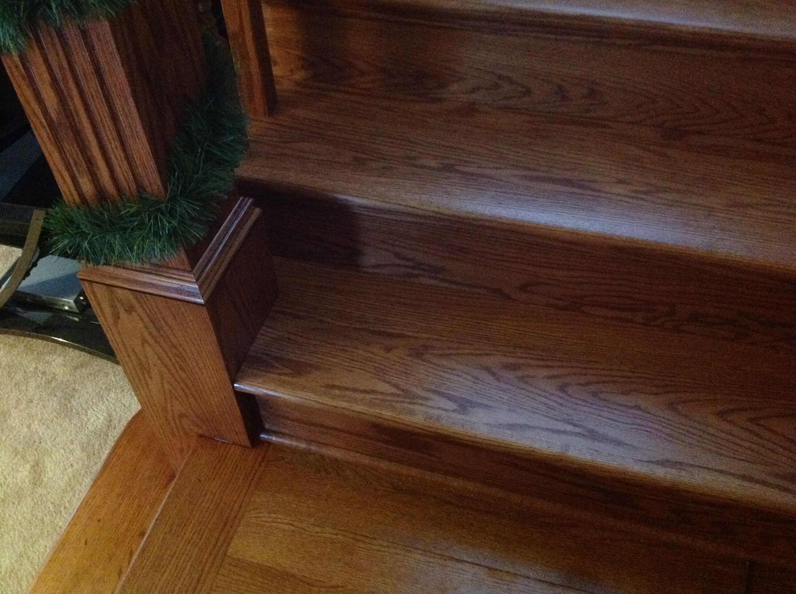 Traditional Red Oak Stair Treads And Risers Detail.