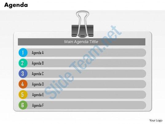 0814 checklist board for main agenda tiltles with six stages Slide01 ...