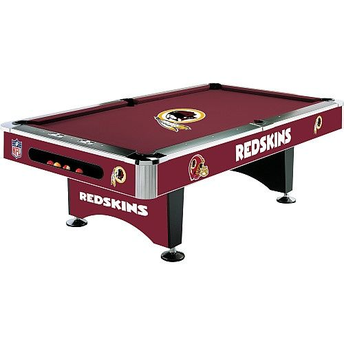 This Pool Table Would Be A Great Centerpiece To Your Redskins Themed Room Pool Table 8 Pool Table Billiard Table