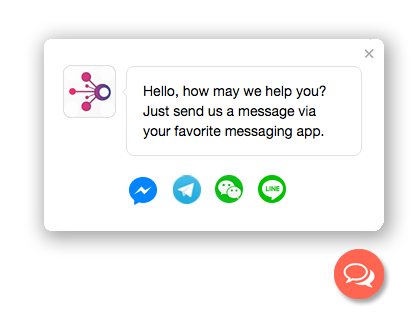 Chat With Website Visitors Via Facebook Messenger Whatsapp Snapchat Etc Buttons For Website Messaging App Messages