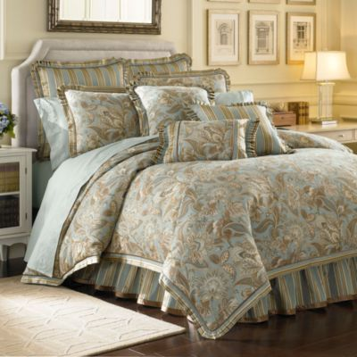 249 99 J  Queen New York  Valdosta Aqua Comforter Set   BedBathandBeyond com  Jacobean. 249 99 J  Queen New York  Valdosta Aqua Comforter Set