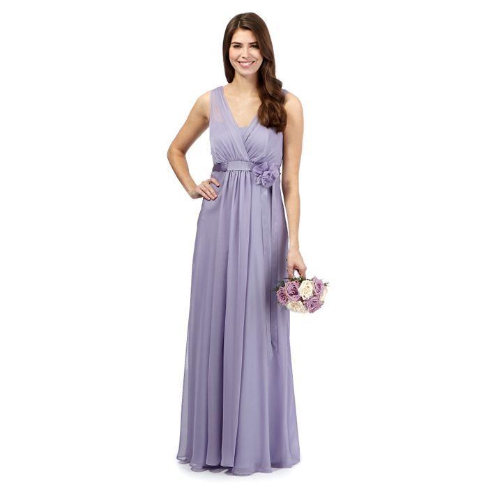 Debut lilac chiffon maxi dress