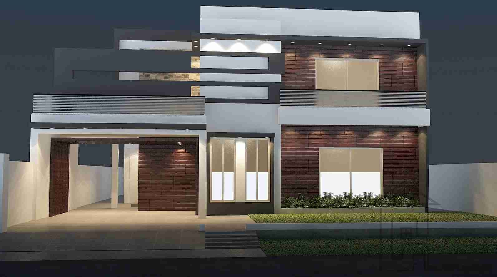 House design of front - 1 Kanal House Design With Basement Front Elevation