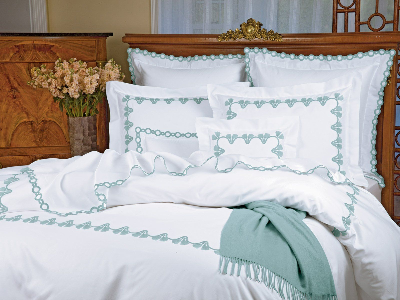 Tassels Luxury Bedding Italian Bed Linens Schweitzer