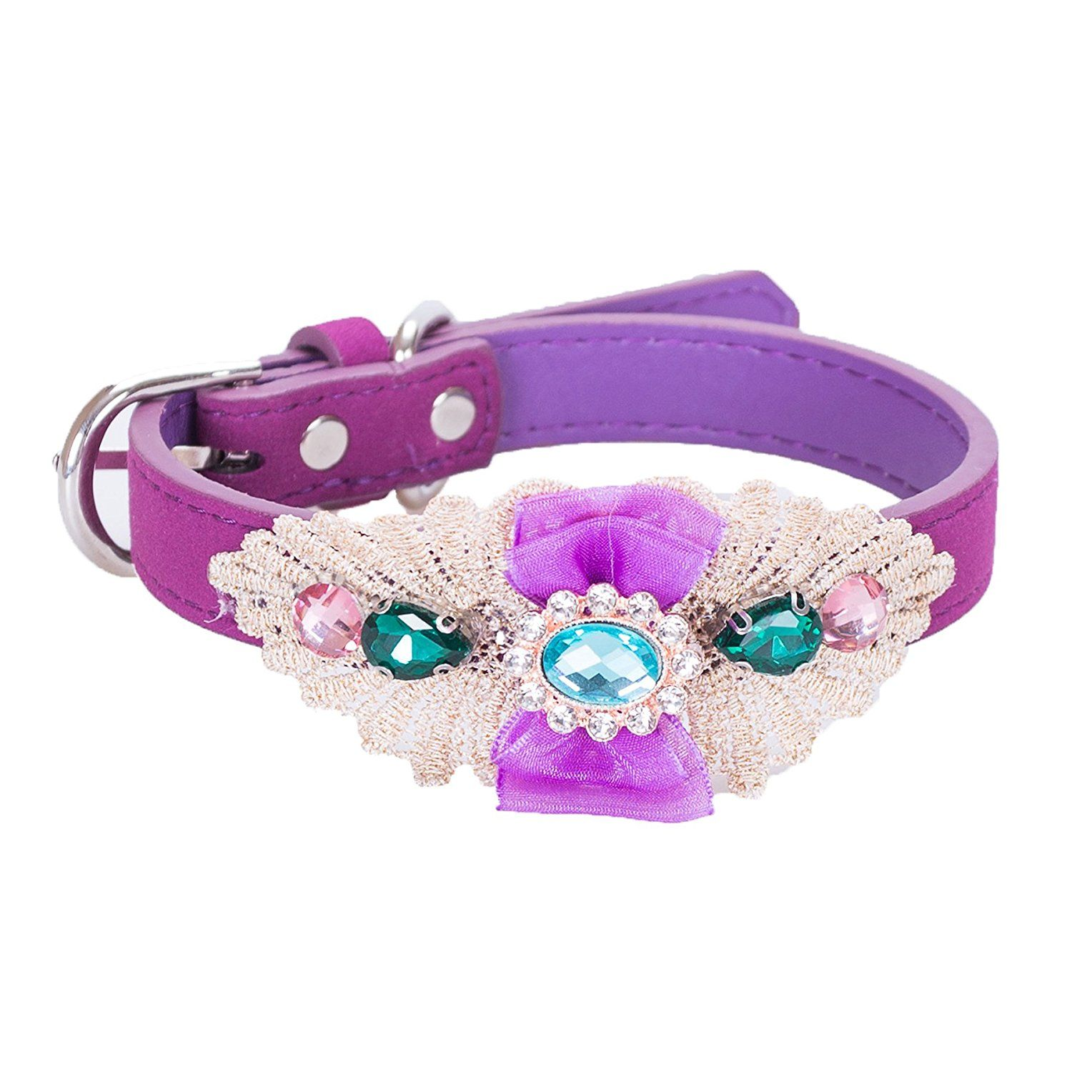 Rhinestone Dog Collar,Lillypet® Adjustable Bling