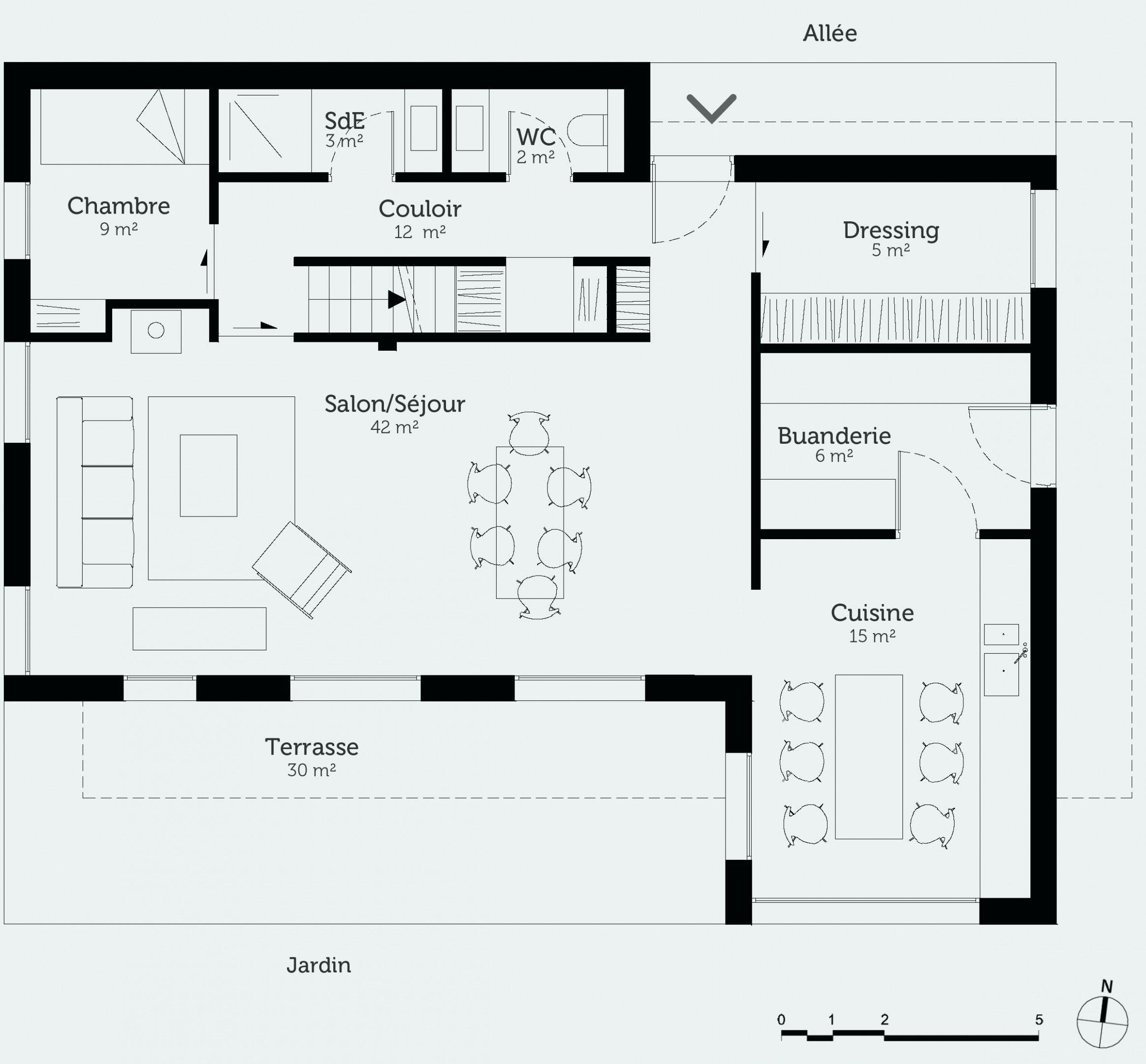 Idee Maison En Longueur   How to plan, House plans, Ground floor