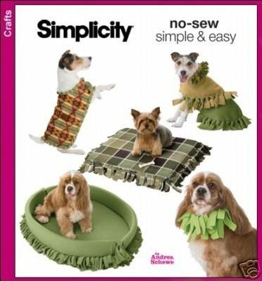No sew fleece dog beds \\/ coats \\/ collar sewing pattern - in three ...