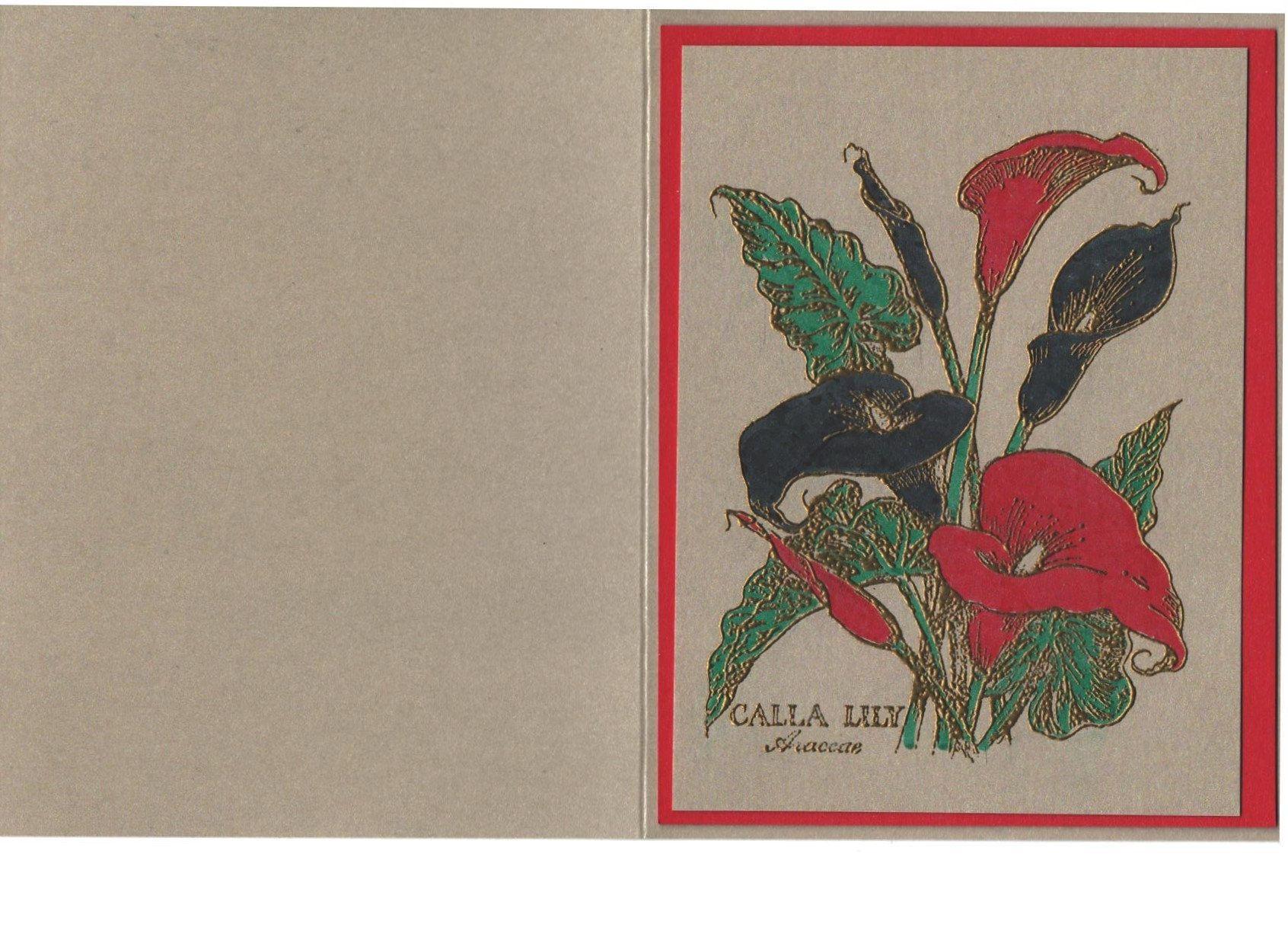 Black Calla Lily Note Card