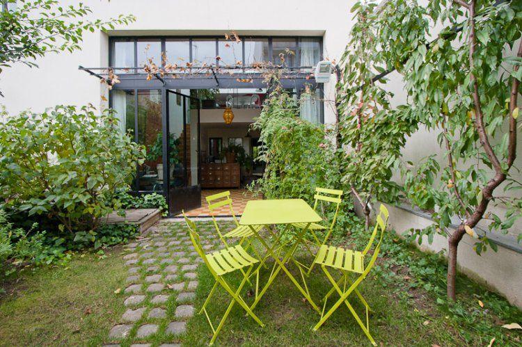 Jardin de loft cf p chers en palissade a montreuil 93 for Diseno de muebles de jardin al aire libre