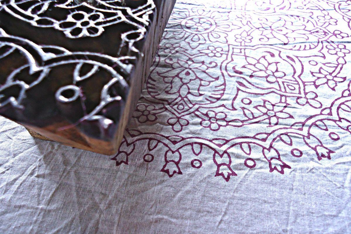 Intricate details on the Ellora block - Kalyana Textiles. www.kalyanatextiles.com