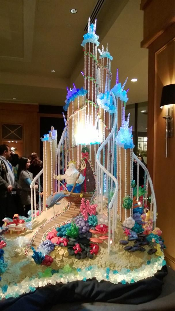 Little Mermaid Wedding Cake Art