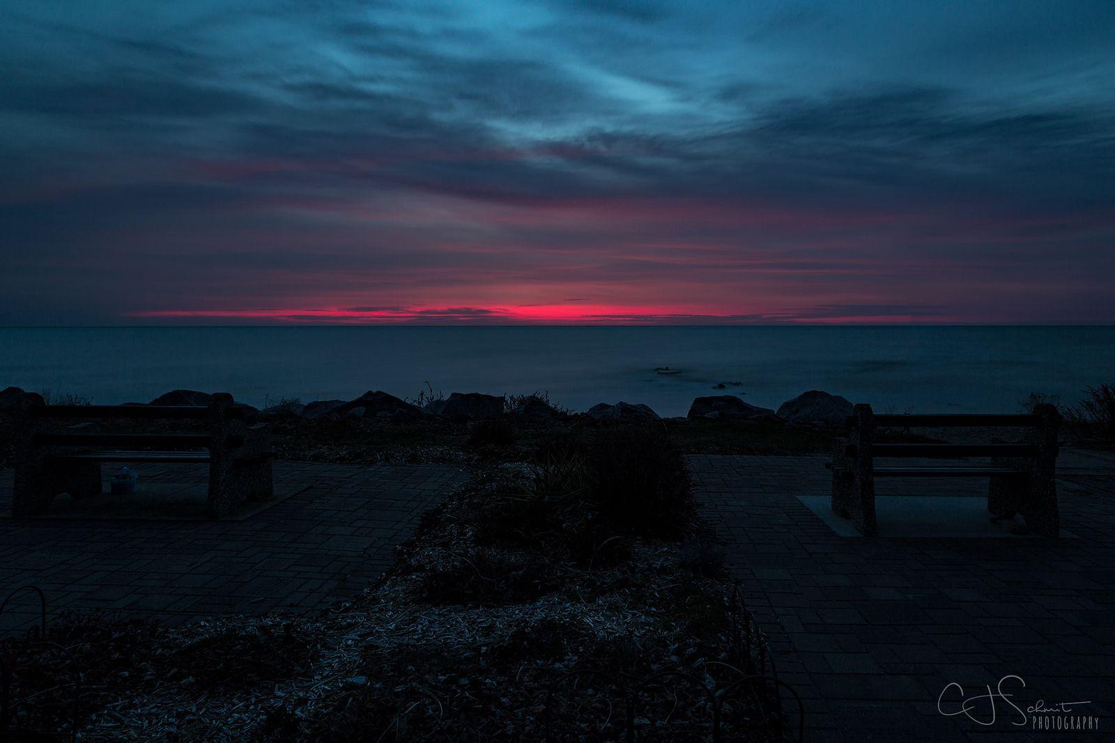 Molten Sky. Wind Point Wisconsin United States. Photo by CJ Schmit.