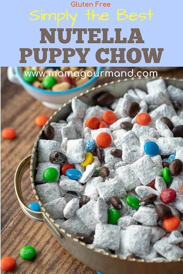 Nutella Puppy Chow Recipe Puppy chow recipes, Nutella