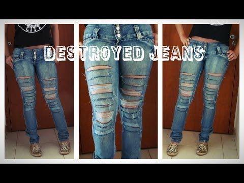 Tutorial: Como rasgar seu jeans! (Destroyed Jeans)