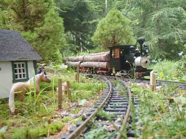 The Winnegance Quebec Railroad Outdoor By Eric Schade As Featured In The Oct 2012 Issue Of Garden Railways Ma Garden Railway Garden Trains Garden Railroad