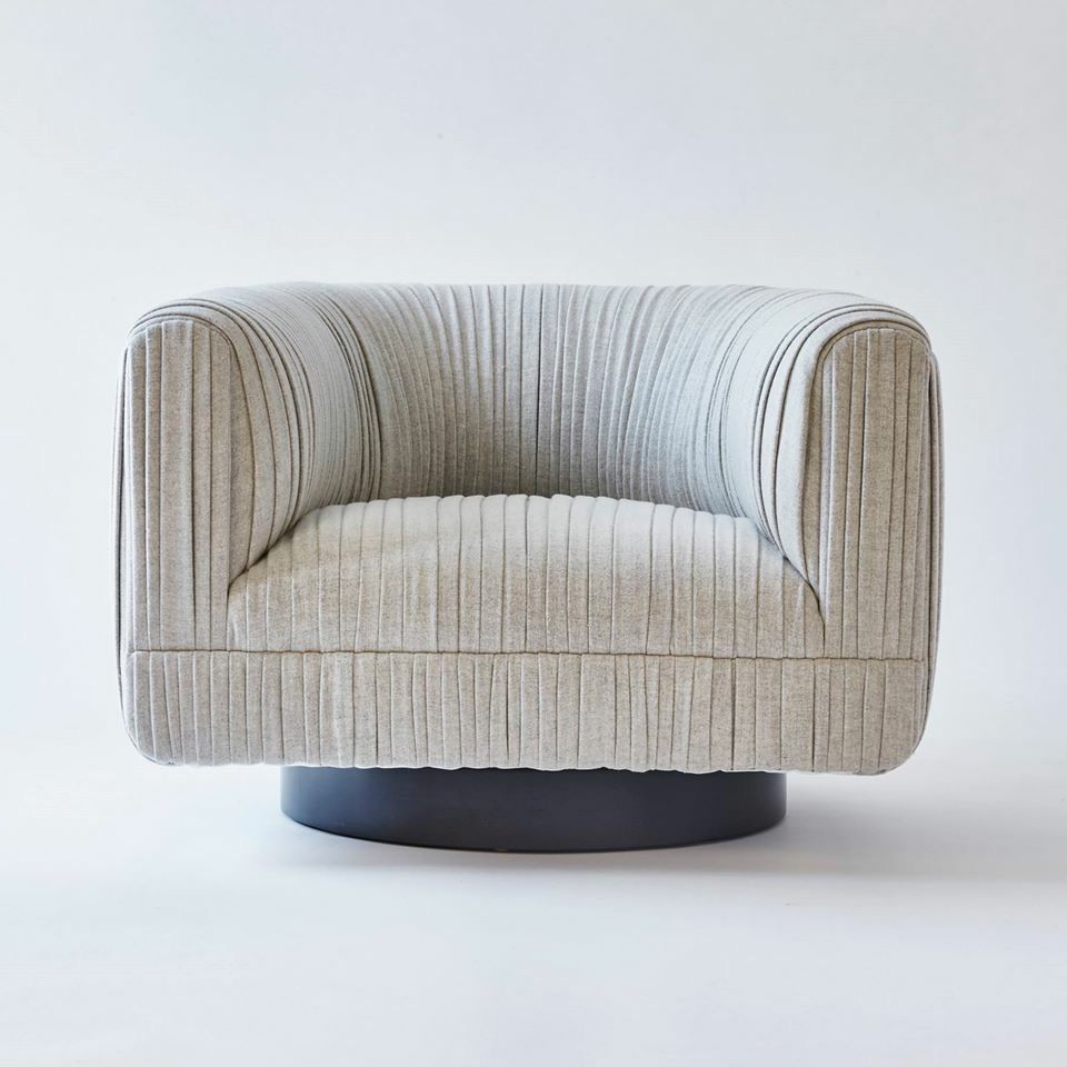 Maia Swivel Chair By Kimberly Denman Soon To Be At Jean De Merry  # Muebles Kimberly