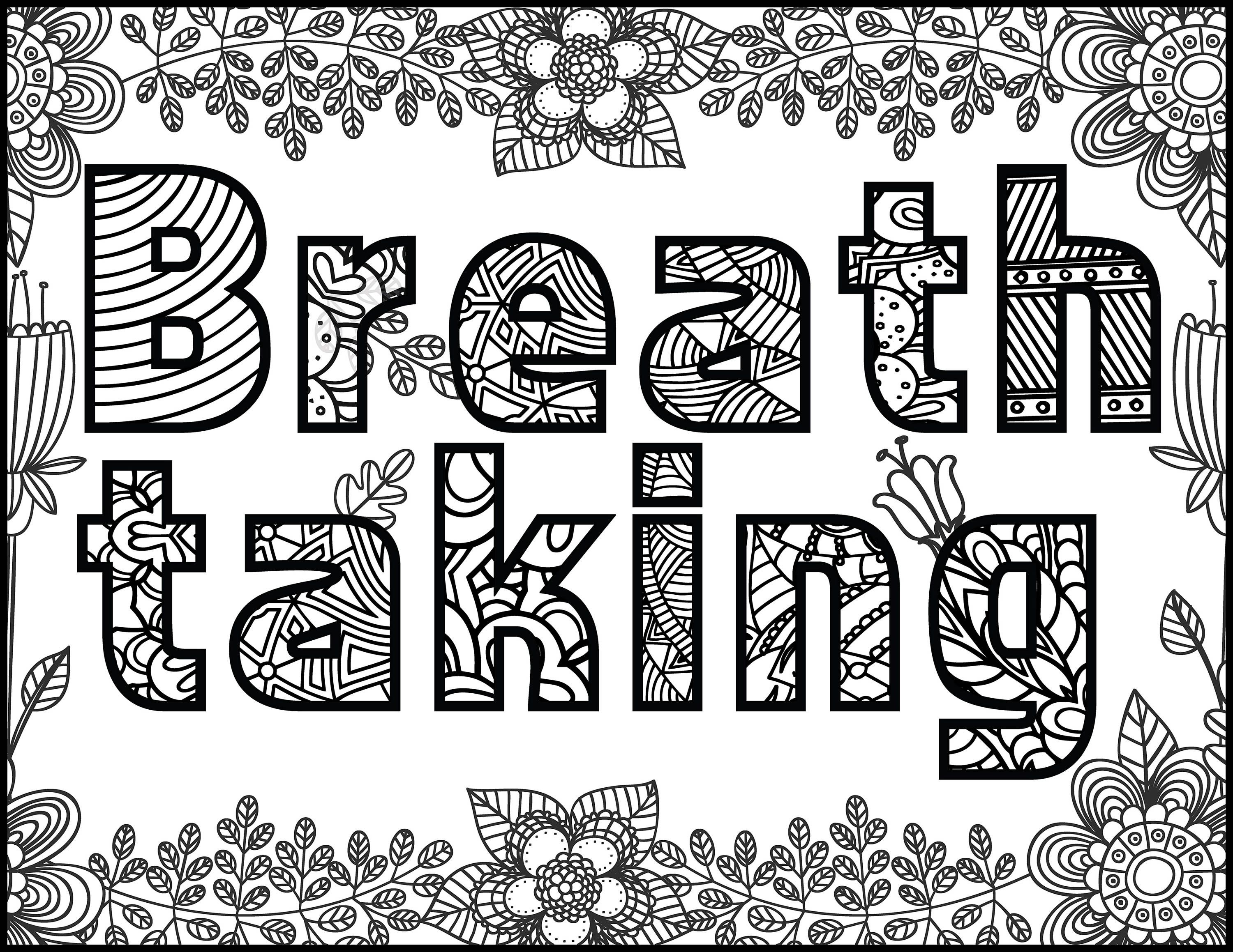 Positive Affirmations-Coloring Pages for Adults-Adult Coloring Pages ...