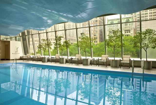 How to sneak into 13 hotel pools in manhattan new york - Hotel new york swimming pool roof ...